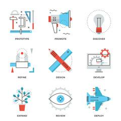 Product design services line icons set