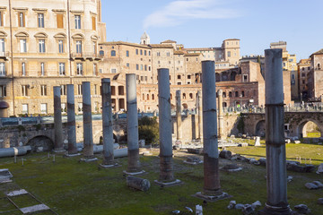 Colonnade in Imperial Fora - Rome