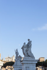 Sculptural Group on Ponte Vittorio Emanuele II Bridge - Rome