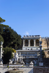 Pincian Hill from Piazza del Popolo - Rome