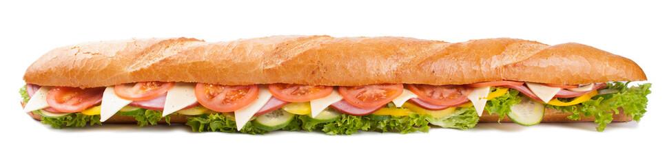 Keuken foto achterwand Snack Big french sandwich