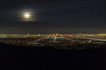 Las Vegas Full Moon Skyline