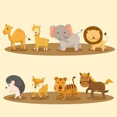Canvas Prints Owls cartoon Illustrator of Zoo animals