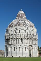 Fototapete - Baptistery of St. John in the Piazza dei Miracoli, Pisa, Tuscany