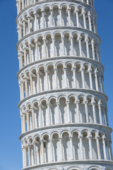 Fototapete - Close up view of Leaning Tower of Pisa in Tuscany, a Unesco Worl