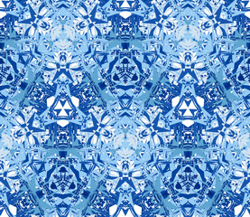 Seamless pattern consisting of abstract elements blue