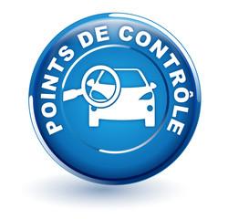 Fototapete - points de contrôle sur bouton bleu