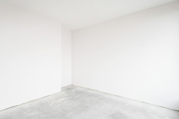 Empty unfinished interior