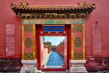 Spoed Fotobehang China Forbidden City imperial palace Beijing China