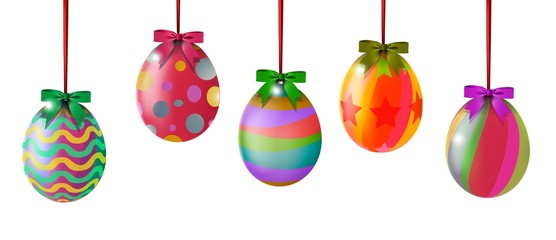 Colorful easter eggs for you design