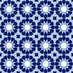 Ornamental seamless pattern, arabic tile, vector background