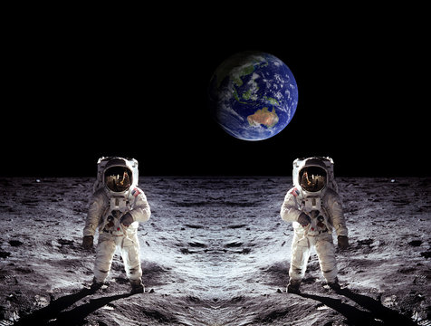 Astronauts Moon Landing Earth