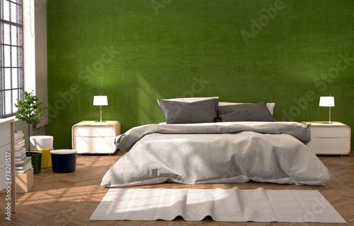 Grünes Schlafzimmer\