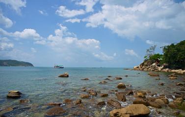 Phangan island beach view