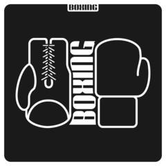 Abstract background on the boxing theme