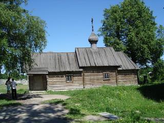 The wooden church of St. Dmitry Solunsky in Staraya Ladoga
