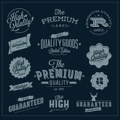 Set of Vintage Premium Quality Stickers And Elements