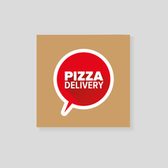 Pizza delivery cardboard