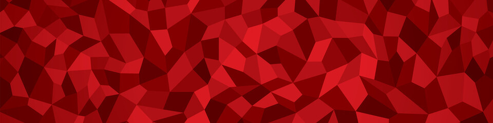 Abstract vector geometry background, red panorama