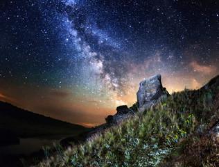 Milky Way. Summer night in Ukraine