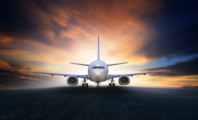 air plane preparing to take off on airport runways use for air t