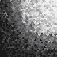 Abstract Triangle Black And White Tone Background.Vector Illustr