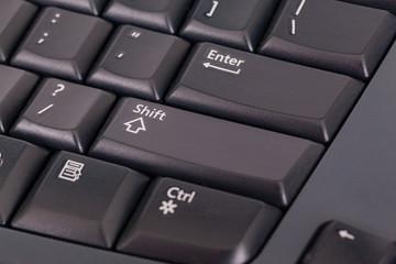Black colored computer keyboard