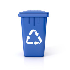 Recycle bin with recycle sign.
