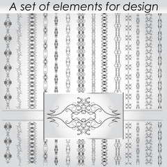 Calligraphic design elements - vector set.  Vector illustration