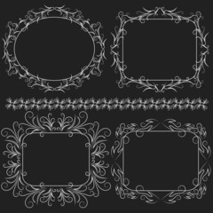 Decorative frame - vector set. Vector illustration