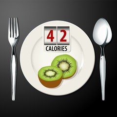 Vector of calories in kiwi