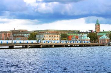 Central bridge in Stockholm, Sweden