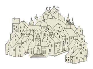 Cartoon castle, vector