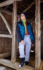 Full length portrait of teenager on a shelter