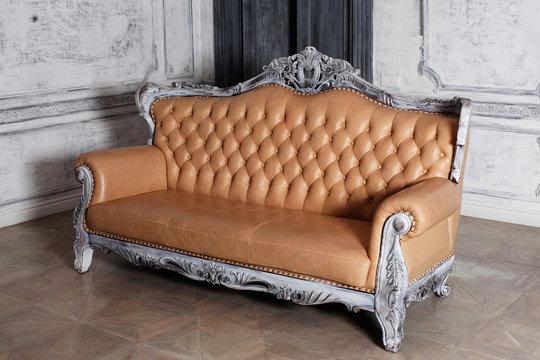 luxury leather sofa style borokko in a beautiful elegant