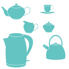 Tea set. Vector illustration.