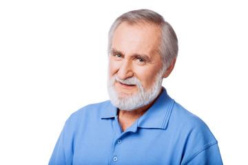 Closeup portrait of a smiling senior