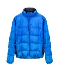 blue winter jacket isolated on white