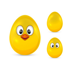 Egg with eyes