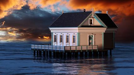 Haus im Meer