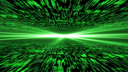 matrix 3d - flying through energized cyberspace, light on the ho