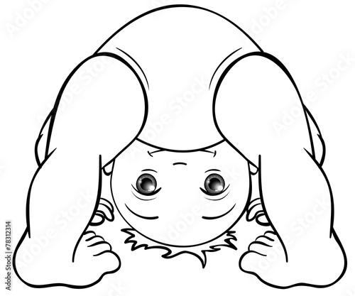 Baby Macht Purzelbaum Ausmalbild Stockfotos Und Lizenzfreie