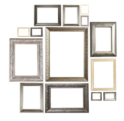 Collage of frames isolated on white