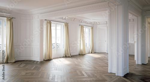 barock altbauwohnung leer in berlin stockfotos und. Black Bedroom Furniture Sets. Home Design Ideas