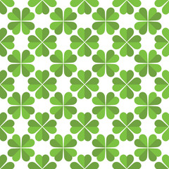 Seamless Saint Patricks day clover background.