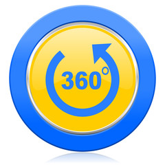 panorama blue yellow icon