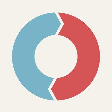Circular infographic template for cycling diagram, graph, presen