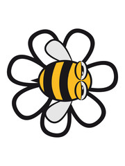 Funny bee flying flowers