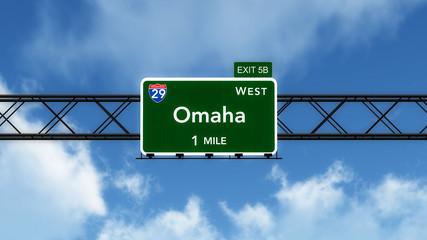 Omaha USA Interstate Highway Sign