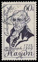 Stamp printed in Czechoslovakia shows Joseph Haydn